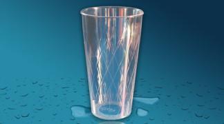 Plastičen kozarec Orpal PS 0,5 l - romb
