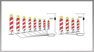 Priklop in postavitev signalnih svetilk - kombinacija 1