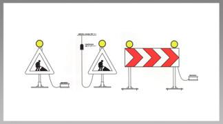 Priklop in postavitev signalnih svetilk - kombinacija 2